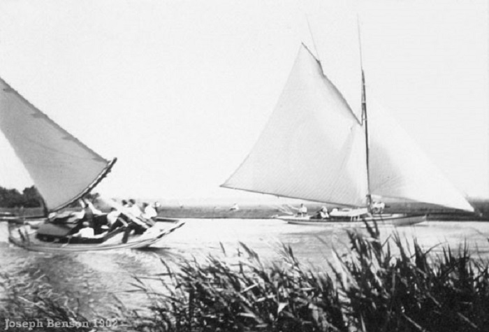 Sailing on the Norfolk Broads 1902