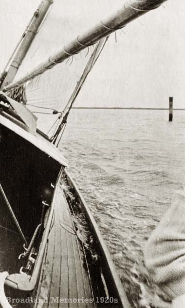 Crossing Breydon Water 1920s