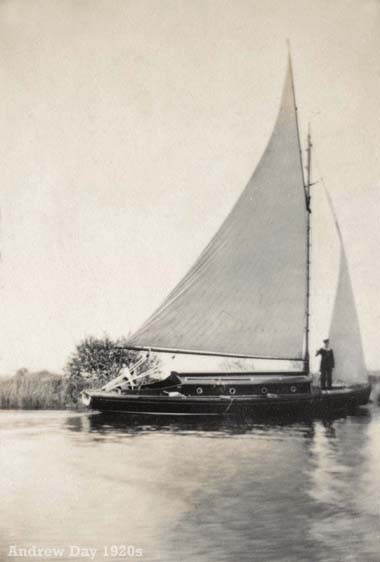 Sailing on the Norfolk Broads c1929
