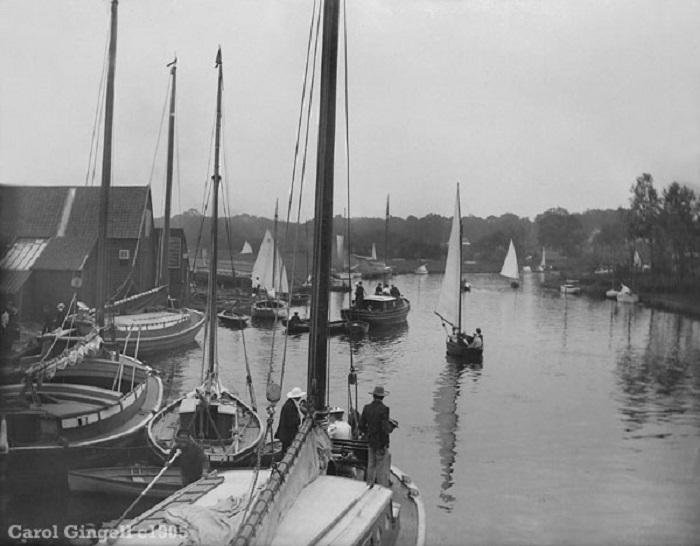 View from Wroxham Bridge c1905