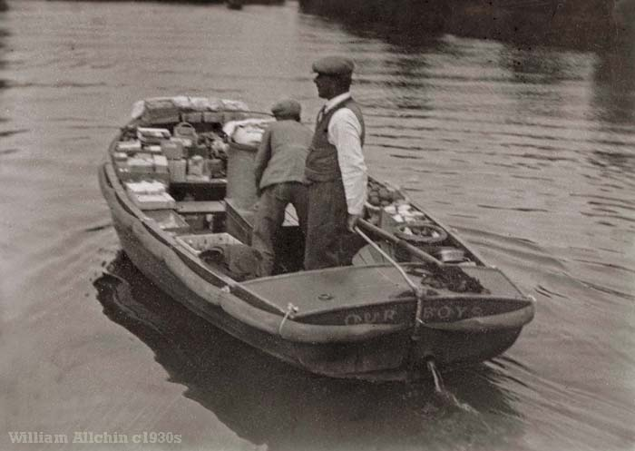 Our Boys provisions boat c1930s