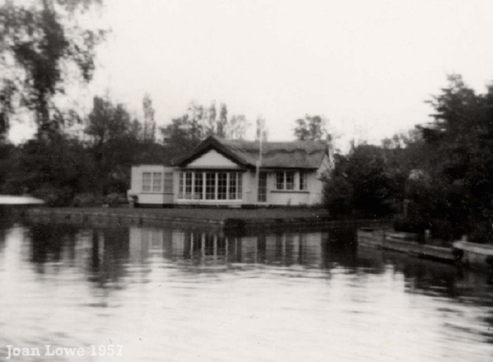 Riverside bungalow at Wroxham 1957