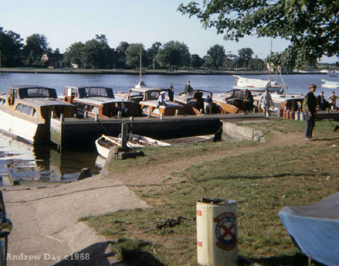 Collins boatyard Oulton Broad 1968