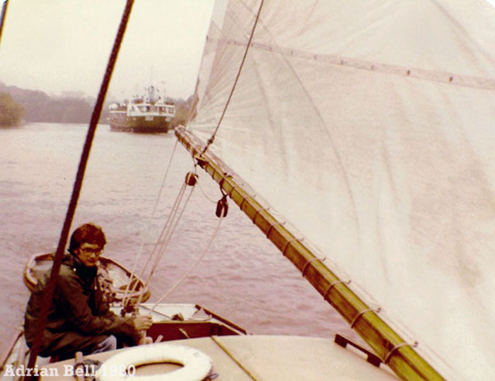 Sailing on the River Yare 1980