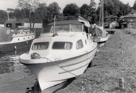 The Yare moorings at Brundall