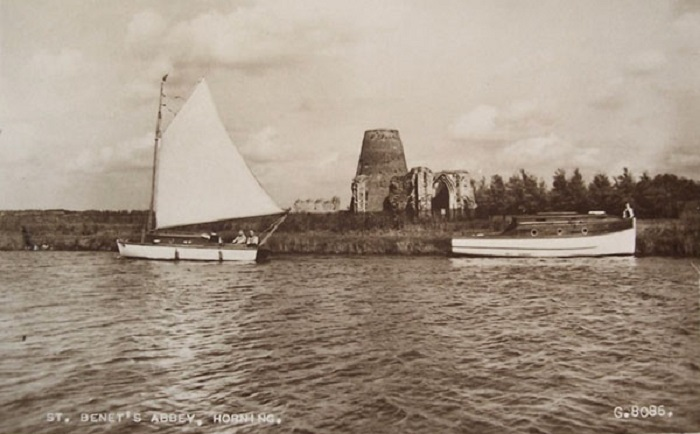 The River Bure and St. Benets Abbey c1940s