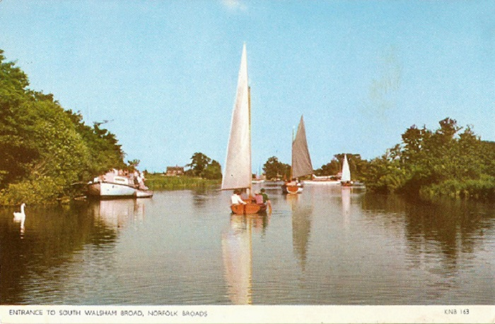 The entrance to South Walsham Broad c1960